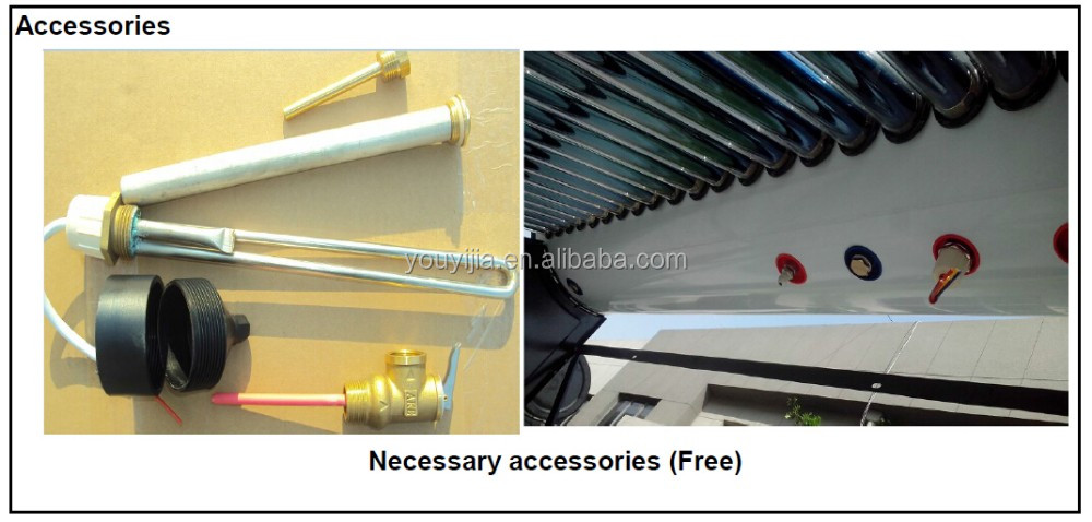 Stainless Steel Heat Pipe Solar Water Heater (300L)