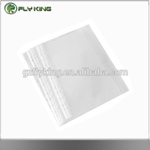 Factory clear plastic folder sheet protectors/file holder/pp folder with documents