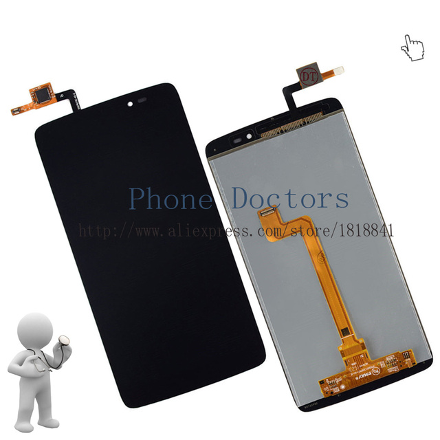 OEM 5.5'' Full LCD DIsplay+Touch Screen Digitizer Assembly For Alcatel One Touch Idol 3 OT6045 6045 6045Y 6045F 6045K ;Black;New