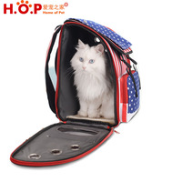 New School Bag Style Comfort Dogs Carriers Backpack,Fabric Pet Bag with Good Ventilation