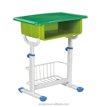 Top quatity wooden top metal frame primary school single students desk and chair