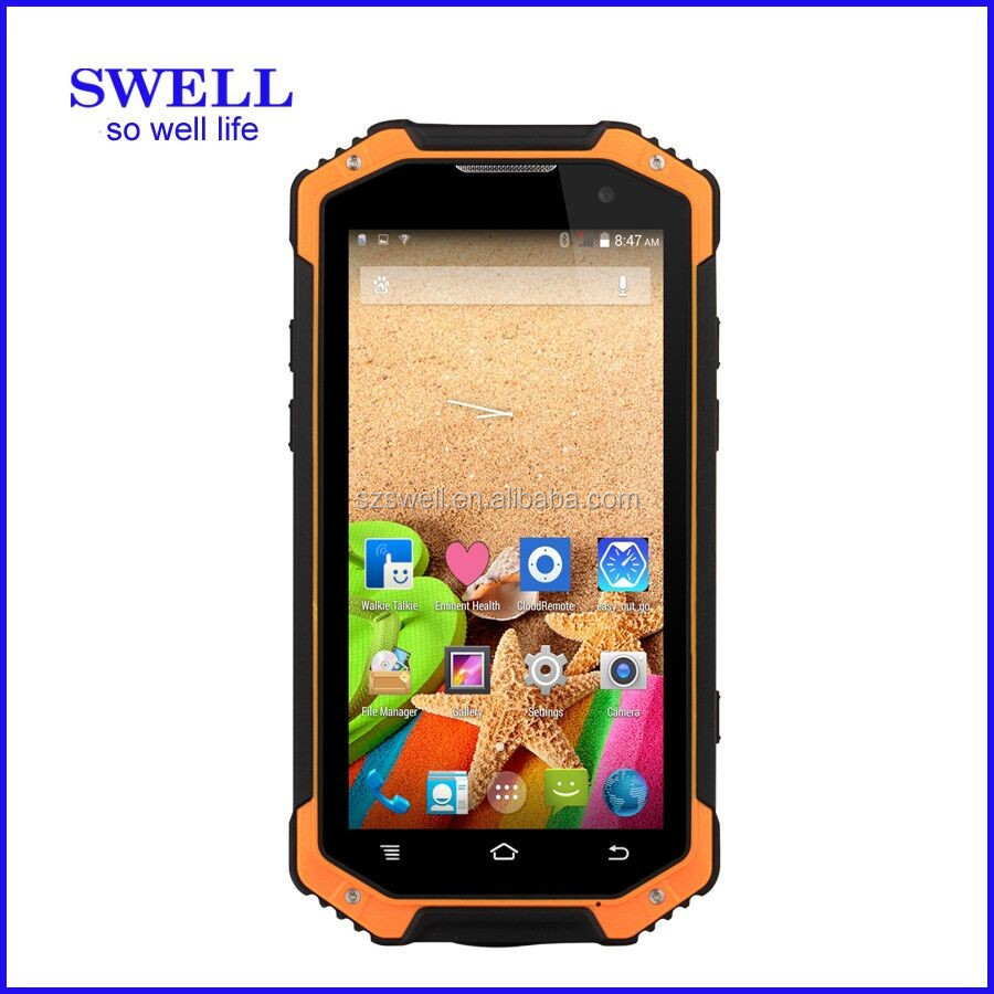 ip68 waterproof mobile phone octa core large warehouse management 4.7inch NFC walkie talkie smartphone IP68 F19