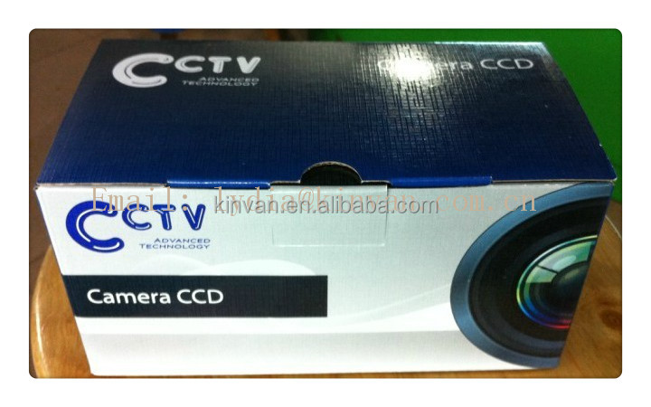 Factory hard cardboard box with customize design CCTV camera packing box