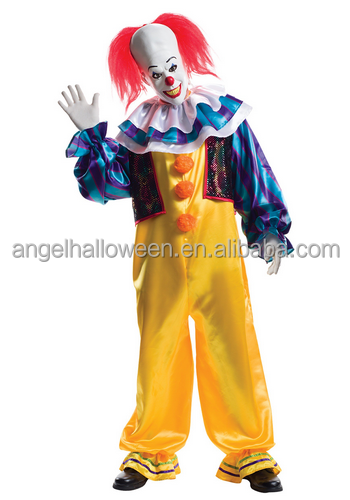 2017high quality adult grand heritage pennywise costume for halloween party AGM2441