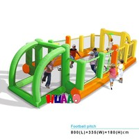 2015 china outdoor playground inflatable football pitch for kids