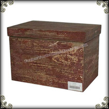 Shabby chic wooden box home furniture vintage trunk