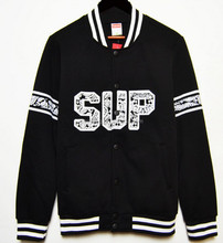 custom made varsity jackets men basketball jacket with white stripe and printed