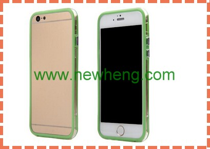 wholesale clear double color tpu pc bumper for iphone6