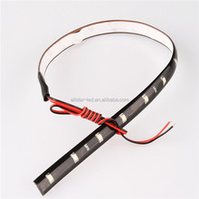 30CM led strips 3528 patch car 1210 smd 15 LED strip chassis soft article lamp traffic wheel light White red blue yellow