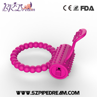 Purple and rose red Tongue silicone Vibrating Penis ring for Men enhance sexual pleasure delay Cock Rings