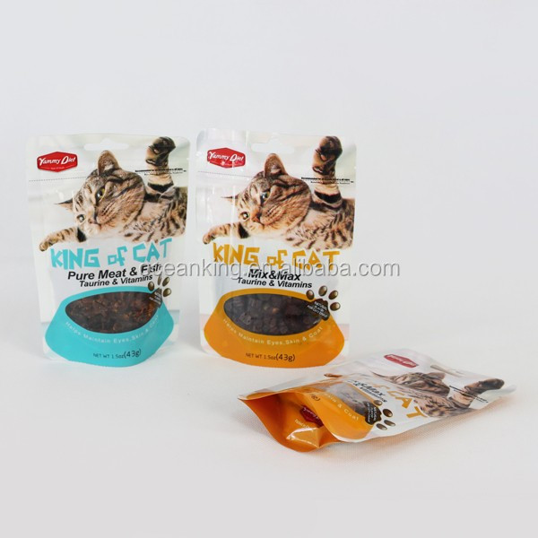 food grade high barrier pet food stand up laminated plastic package bag