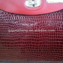 2016 newest design fake snake skin for bag use raw material