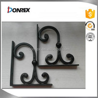 Handmade forging wall mounted wrought iron brackets for railing for USA market