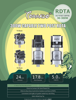 New wholesale distributor opportunities IJOY Tornado 300W Capable Two Post RDTA