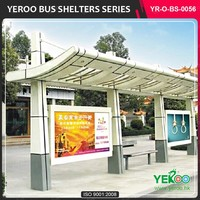 City Road Full Color high quality used Bus Shelter for sale