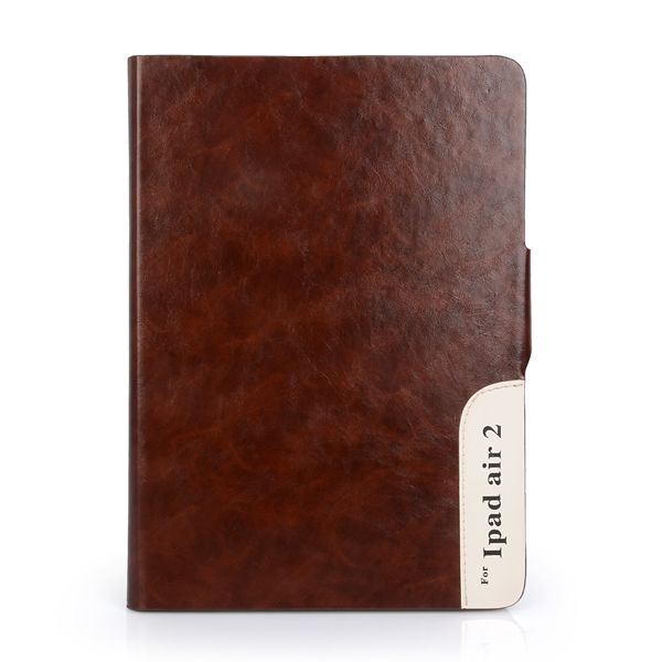Double size flip cover pu leather tablet case for ipad air 2