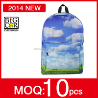 2014 Durable and colorful printing character school bags for kids,big book bags school,8 years child school bag