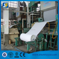 High quality 1760mm tissue making machine recycled paper