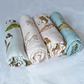 bamboo and organic cotton muslin baby swaddle blanket