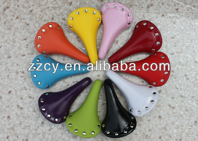 factory directly colorful fixed gear bicycle saddle/bicycle seat