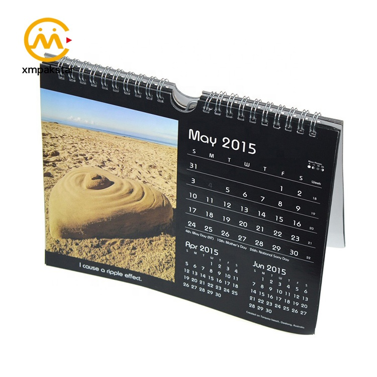 12-Month Standard Size Of Tear off Spiral Table Standing Calendar