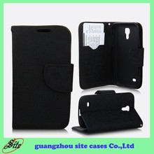 Leather cell phone cases with card holder for Samsung Galaxy S4 mini