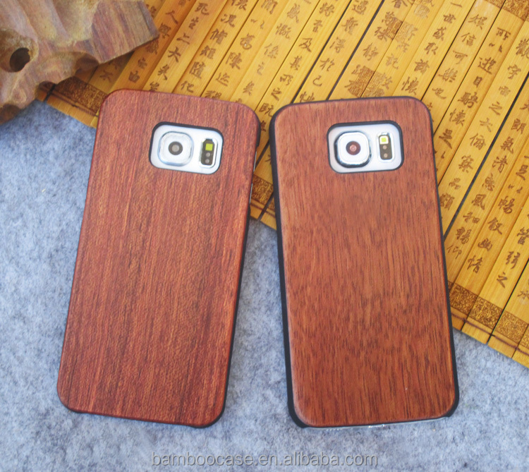 Attractive Retro Sytle Real Blank Wood Material Phone Case Cover Wooden For Samsung Galaxy S5 S6 S7 S6 edge