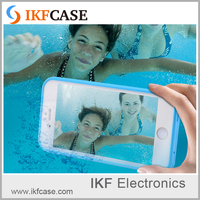 High Quality Transparent Swim photography Waterproof Soft Rubber Mobile Phone Case For Iphone 6S