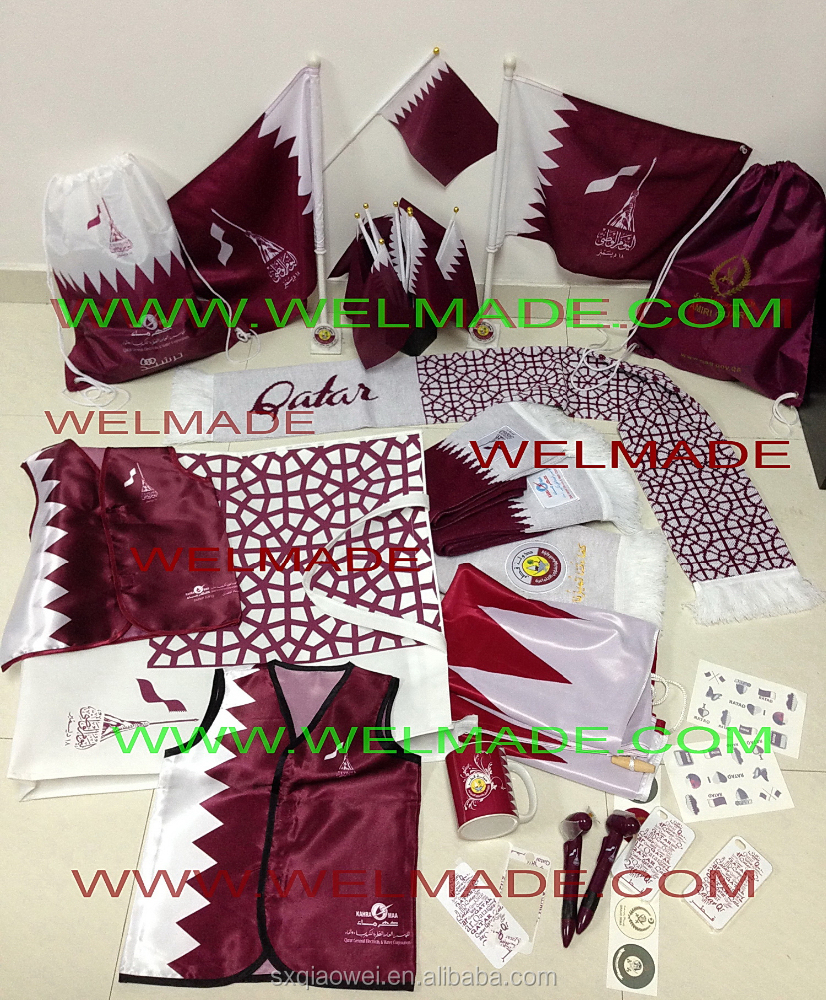 Hot sales Qatar national day flag gifts / Qatar gift sets/UAE national day flag