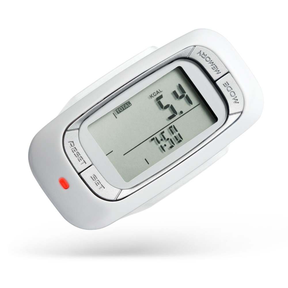 3D axis accelerometer sensor large LCD display screen running Pedometer with 7 days Memory Step Calorie Distance Counter