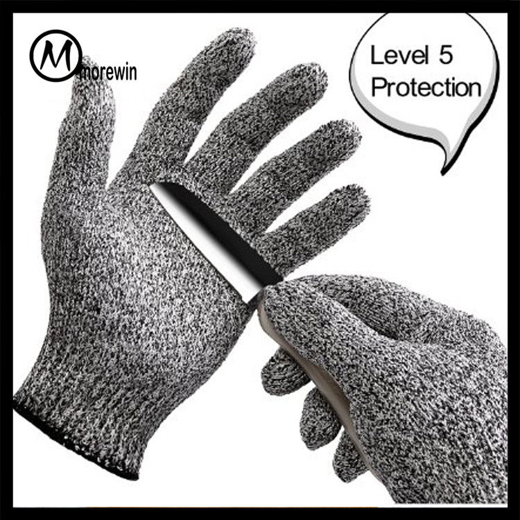2016 Morewin High Performance Level 5 Food Grade Kitchen Cooking Cut Protection hand Gloves