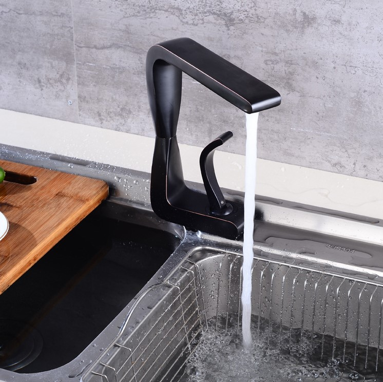 New Arrival Black Brass Basin mixer