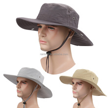 Hot selling cheap 100% cotton summer outdoor mens bucket hat wide brim fishing hat