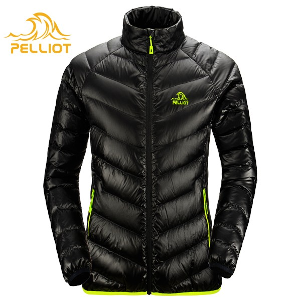 Ultralight Mens Shiny Comfy Nylon Fabric Duck Down Jacket For Winters