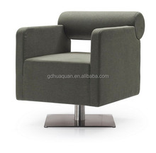 square bar chair living room single sofa in fabric or pu