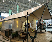 2018 Factory hot sell Wood frame Hotel tent, Glamping Luxury Lodge Canvas Tent