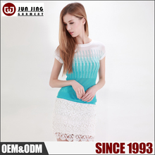 Wholesale clothing loose knitwear free size thin knit sweater for ladies
