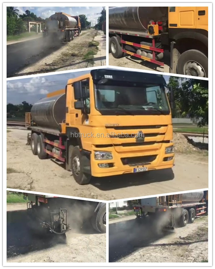 10000L howo 4x2 bitumen distributor for sale