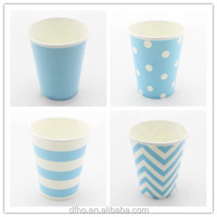 2014 Wholesale Blue Paper Coffee cups Custom Printed Paper Cups