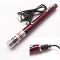 USB Rechargeable 5mW 650nm Red Light Starry Sky Pattern Laser Pointer + USB Cable