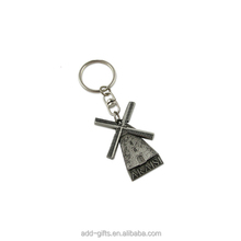 alloy Windmill Shaped Souvenir Metal Key Chain Key Ring