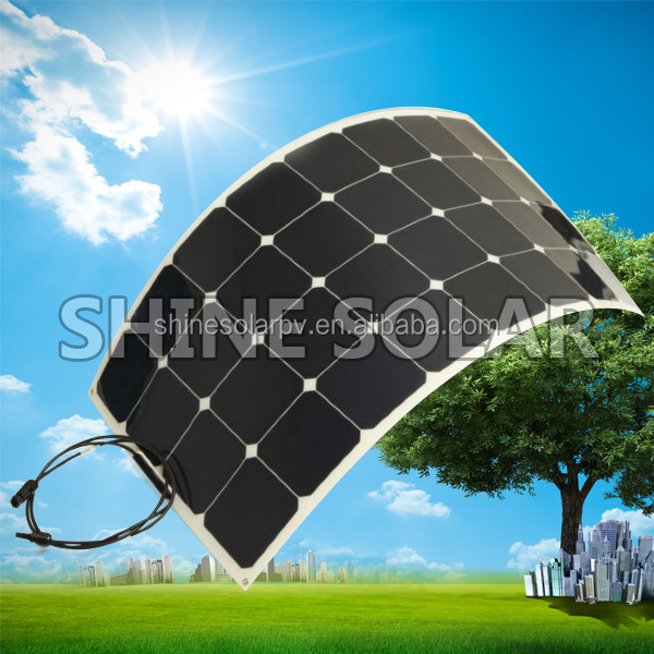 Top Quality PV Photovoltaic Panel High Quality Semi Flexible Solar Panel