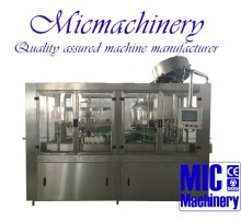 MICMACHINERY MIC-18-18-6 CE approved Europe standard 3000-6000bph at 500ml aluminum cap glass bottle tea filling machine