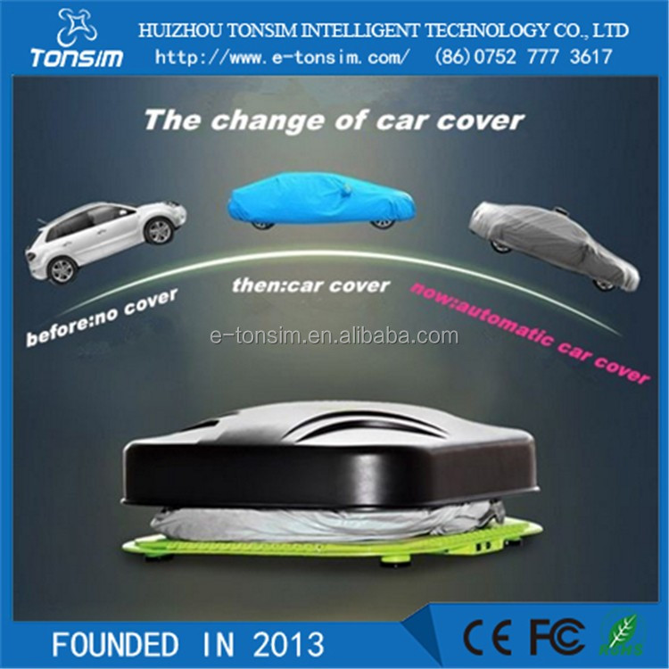 HOT Sale Double Anti thelf Funtion Electrical Folding Garage Automatic Waterproof Car Cover
