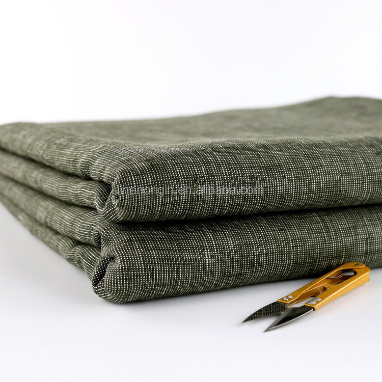 100% linen yarn dyed fabric for coat