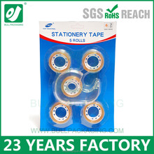 single side adhesive tape plastic core stationery tape with dispenser
