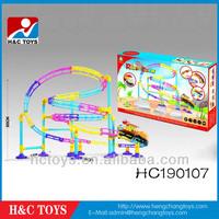 Children park Roller coaster Railway toy set,B/O railcarHC190107