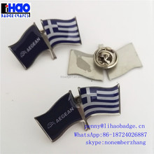gold plated iron shirt collar pins customized lapel pins with epoxy coated