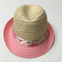 Hot sale new panama fashion colorful paper straw hat for kids