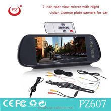 mini reverse car camera rear view mirror with bluetooth car kit fm transmitter and mp5 function